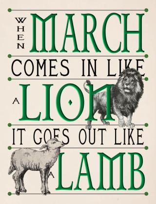 In like a Lion out like a Lamb image